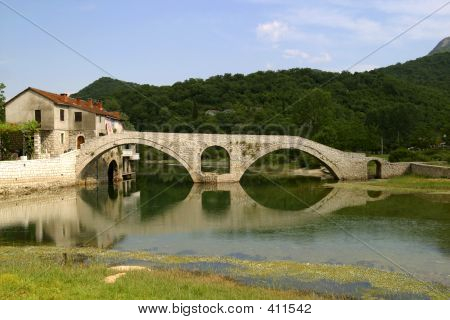 Stone Bridge In Montenegro