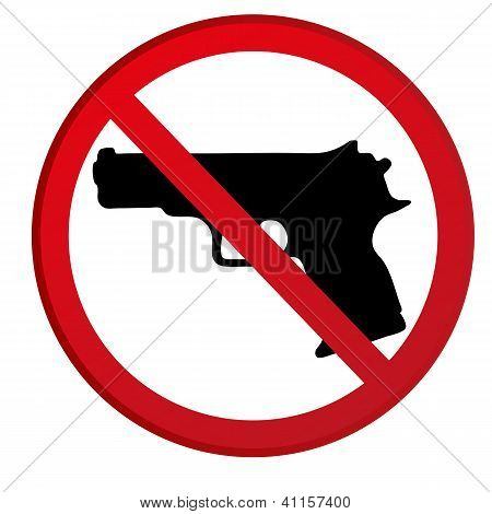 No Guns Allowed Sign