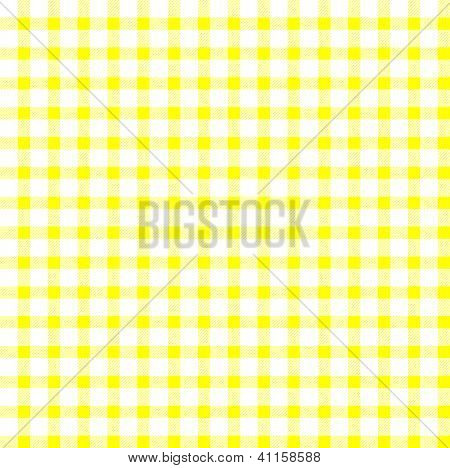 Seamless Retro White-yellow Square Tablecloth