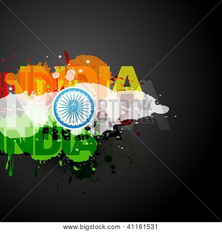 vector creative flag of india