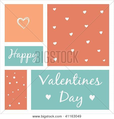 Valentine heart greeting card. Vector