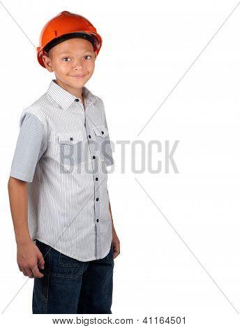Boy With Hard Hat