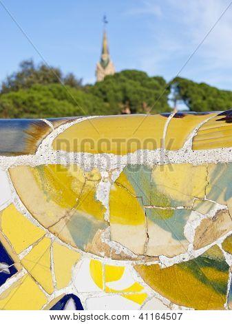 Antonio Gaudi Mosaics, In Park Guell