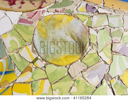 Background of Antonio Gaudi mosaics