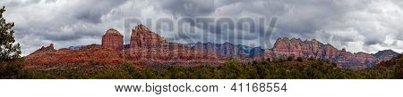 Cathedral Rock in Sedona Arizona Panoramic
