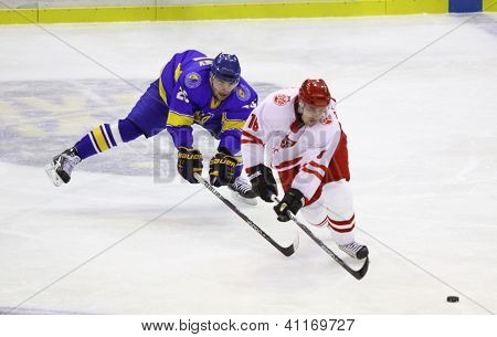 Ice-hockey Game Ukraine Vs Poland