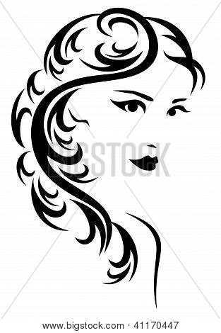design de estilo de cabelo