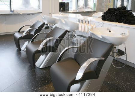 Empty Hairdresser Salon
