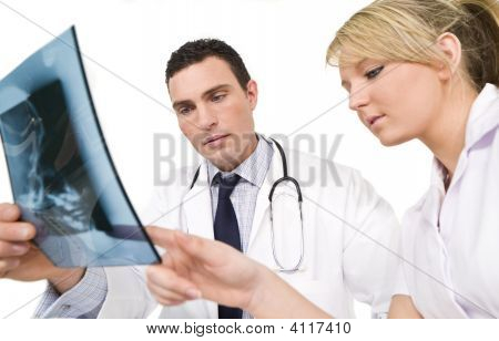 Concerned Doctor And Nurse