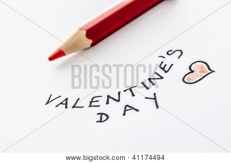Handwritten Valentines Day Message