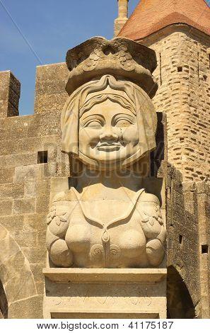 Dame Carcas Of Carcassonne Statue