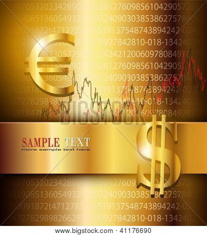Business background elegant gold