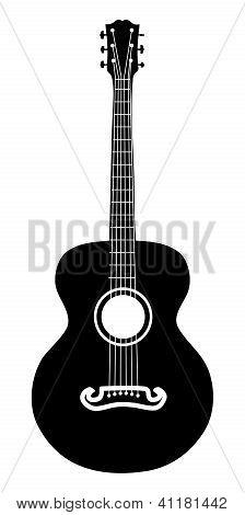 Acoustic Guitar Silhouette