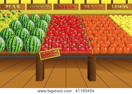 Grocery Store Produce Aisle