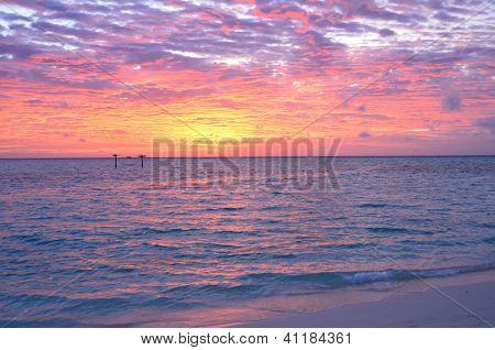 Sunset at the Maldives