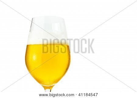 Closeup Of Beer In A Glass with clipping path