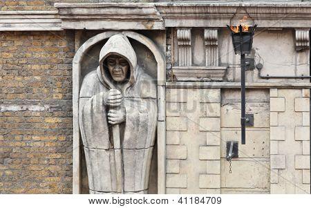 Hooded Monk Figure
