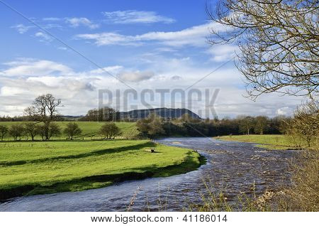 View of River Ribble, near Clitheroe.