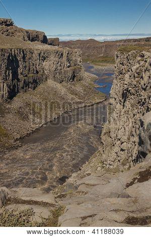 River Jokulsa A Fjollum Canyon - Iceland.