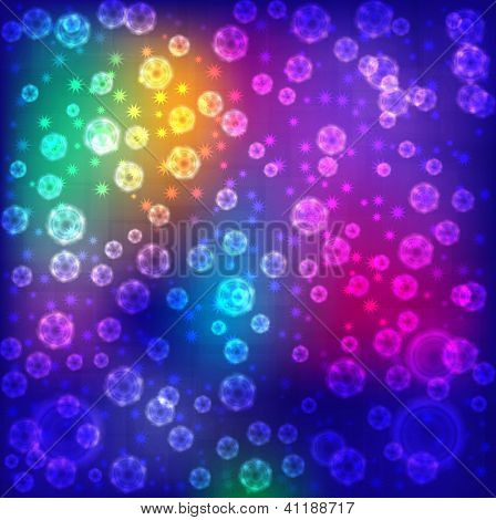 Abstract background colorful lights.
