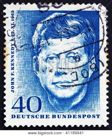 Postage Stamp Germany 1964 John F. Kennedy
