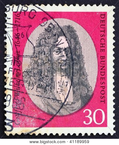 Postage Stamp Germany 1966 Gottfried Wilhelm Leibniz