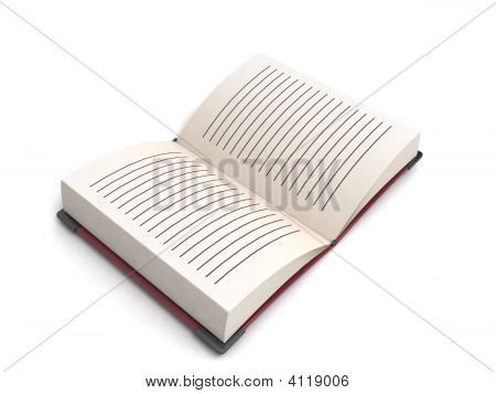 dreidimensional öffnen Buch