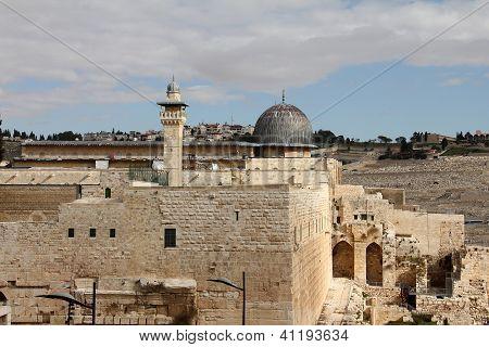 Al Aqsa And   Minaret
