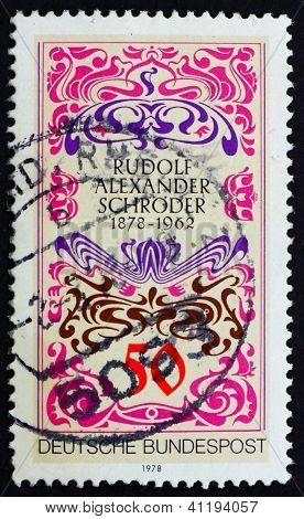 Postage Stamp Germany 1977 Alexander Schroder