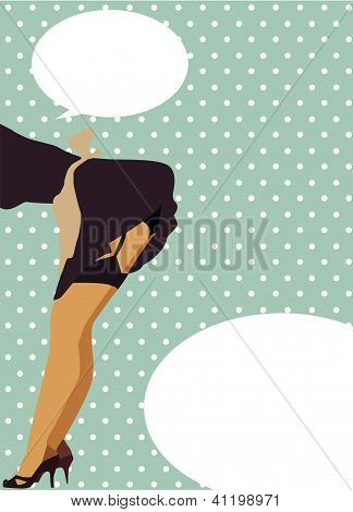 Sexy woman retro style illustration