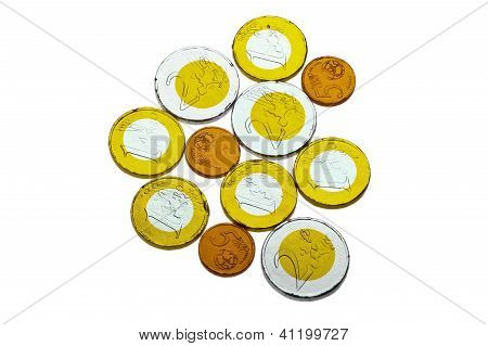 Euro Chocolate Coins