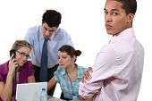 stock photo of inappropriate  - People working in an office - JPG
