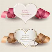 image of amour  - Collection of gift cards with ribbons - JPG