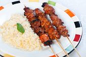 pork barbecue sticks