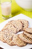 florentine cookies with cold milk poster