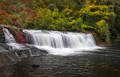 image of hooker  - Hooker Falls Autumn Waterfalls Dupont State Forest NC Fall Foliage nature and landscape photography - JPG