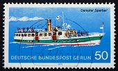 Postage Stamp Germany 1975 Steamship Sperber