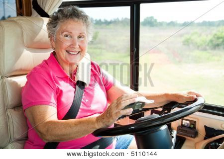 Senior Woman Using Gps