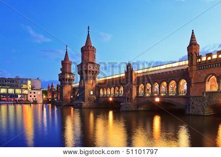 Oberbaum bridge Berlin Germany