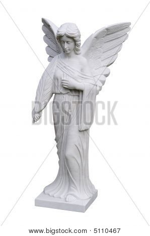 Isolated Angel Statue
