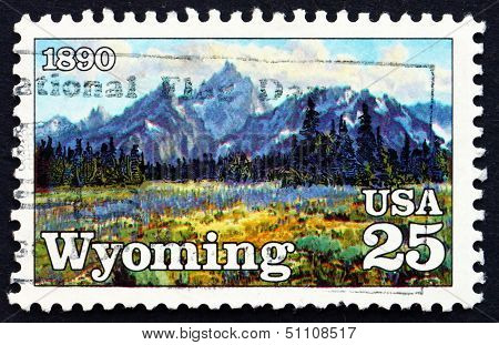 Postage Stamp Usa 1990 High Mountain Meadows, By Conrad Schwieri