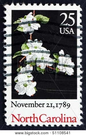 Postage Stamp Usa 1989 North Carolina, Ratification Of The Constitution