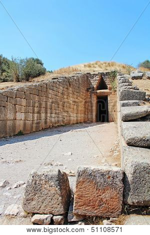 Treasury Of Atreus In Mycenae, Greece