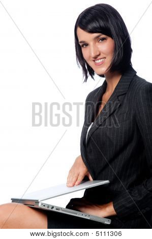 Businesswoman With Laptop