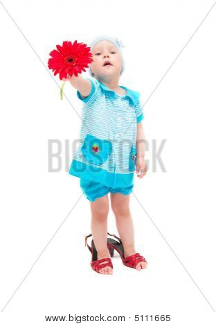 The Little Girl With A Flower