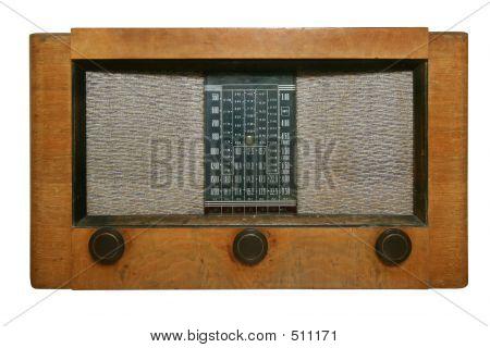 Radio antiguo con ruta