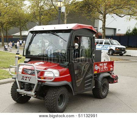 FDNY Haz-Mat Kubota RTV Utility Vehicle near National Tennis Center during US Open 2013