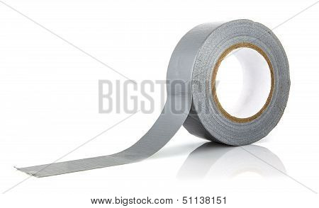 Roll Of Gaffer Tape (duct Tape) On A White Background
