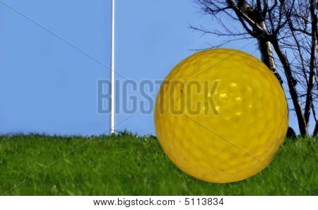 Golf  Ball And Green