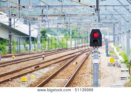 Train Railway signal light